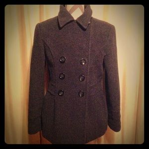 Dressy lined pea coat